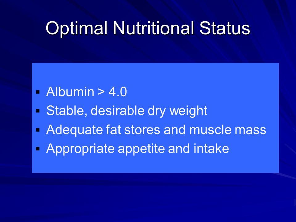 Optimal Nutritional Status