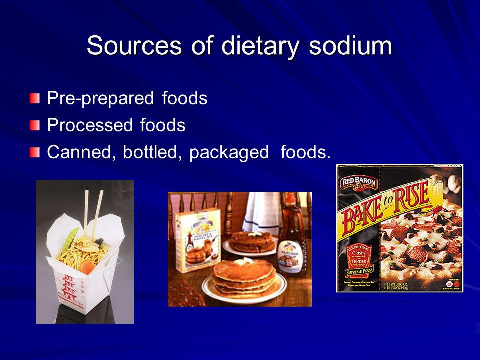 Sources of dietary sodium
