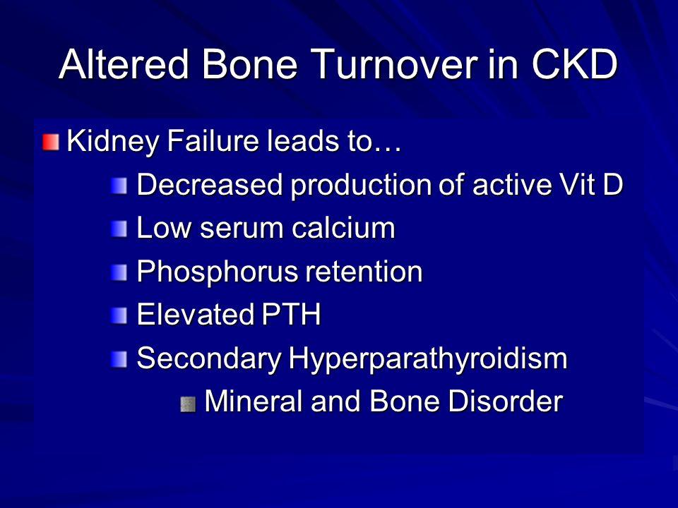 Altered Bone Turnover in CKD