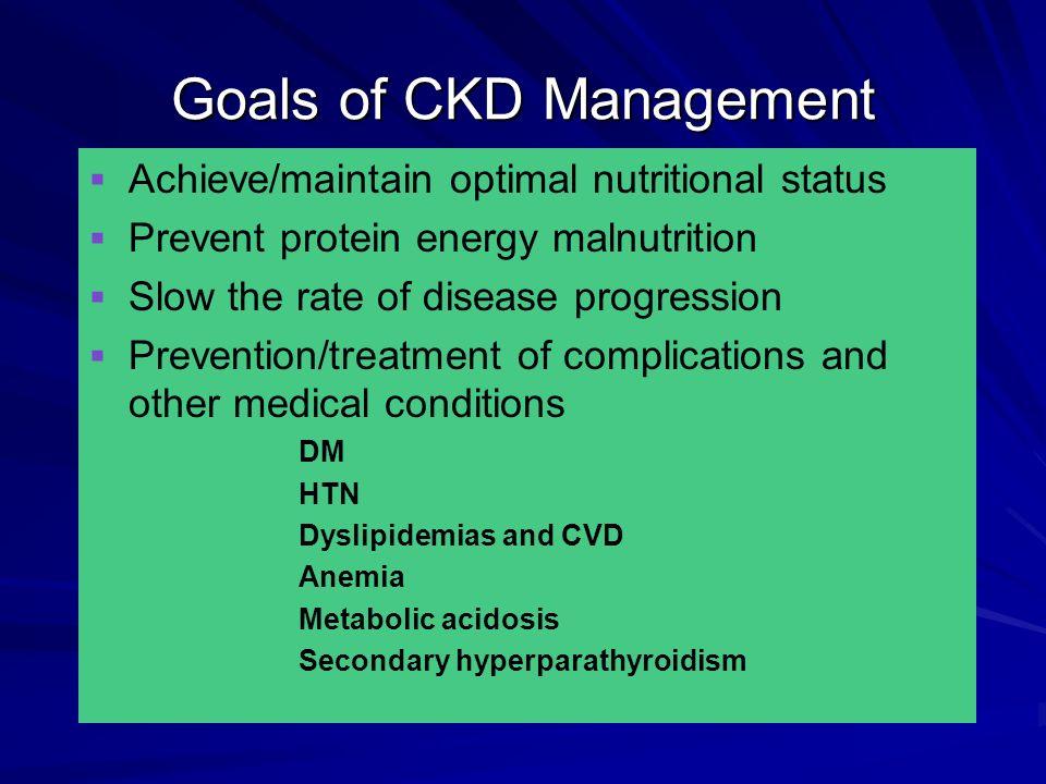 Goals of CKD Management