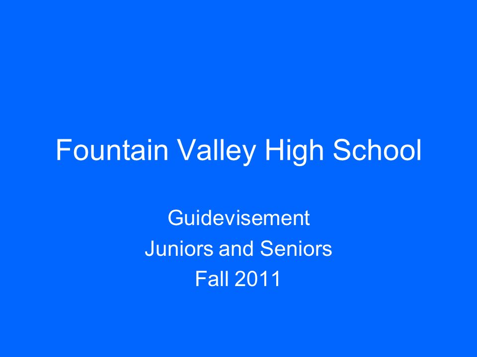 Fountain Valley High School