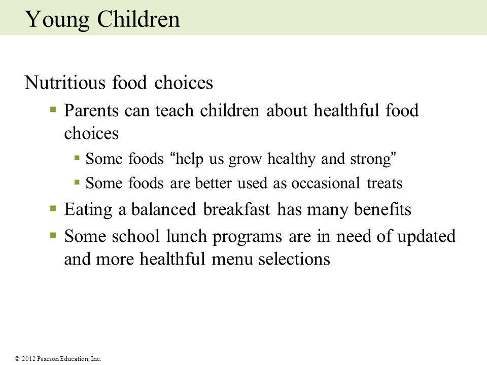 Young Children Nutritious food choices