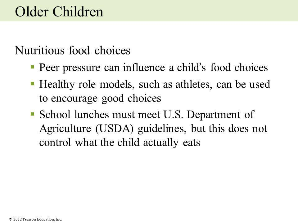 Older Children Nutritious food choices