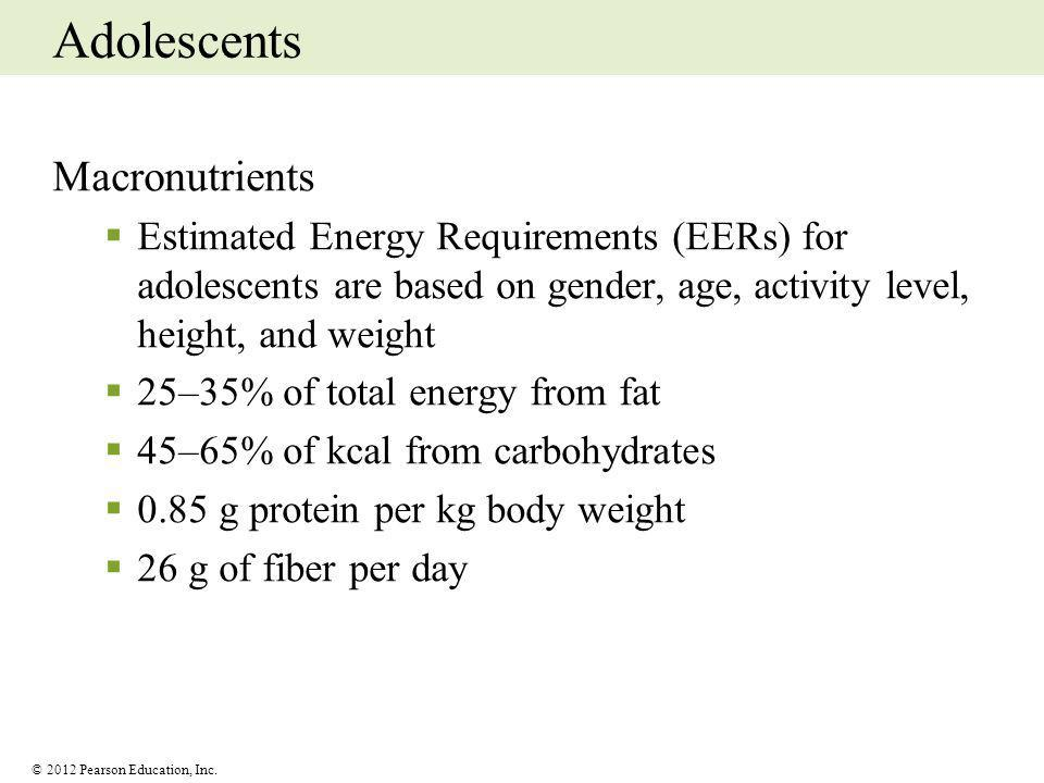 Adolescents Macronutrients