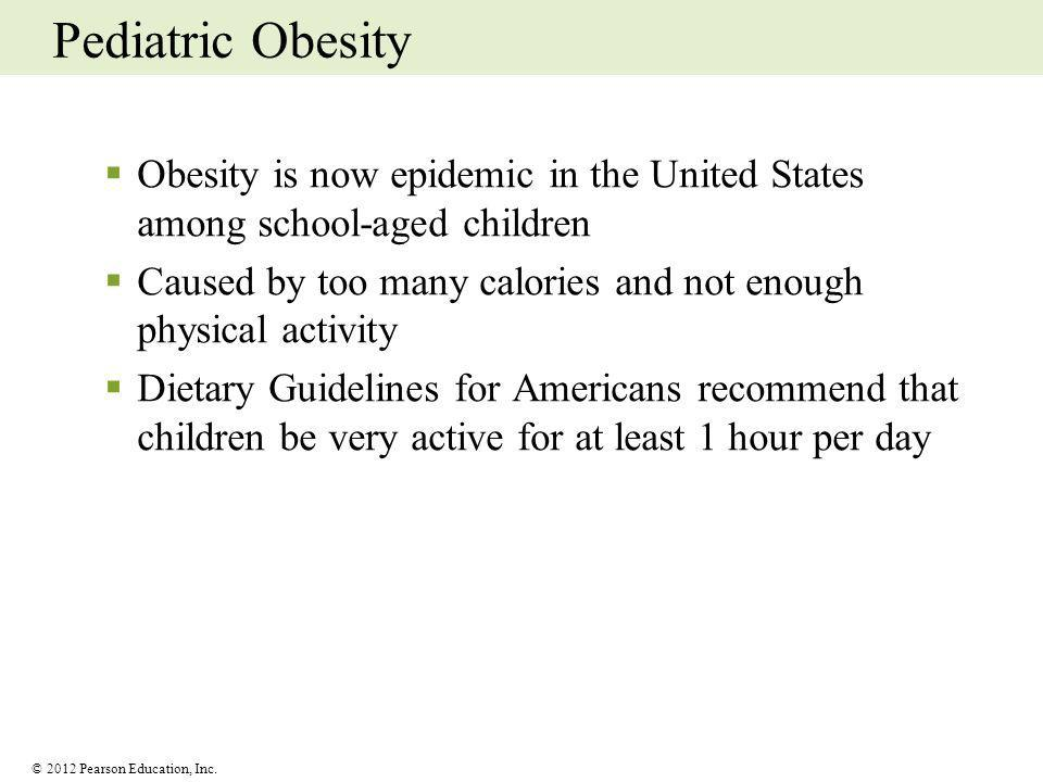 Pediatric Obesity Obesity is now epidemic in the United States among school-aged children.