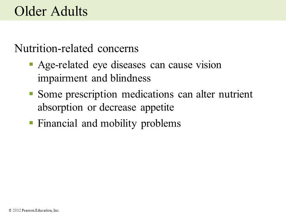 Older Adults Nutrition-related concerns