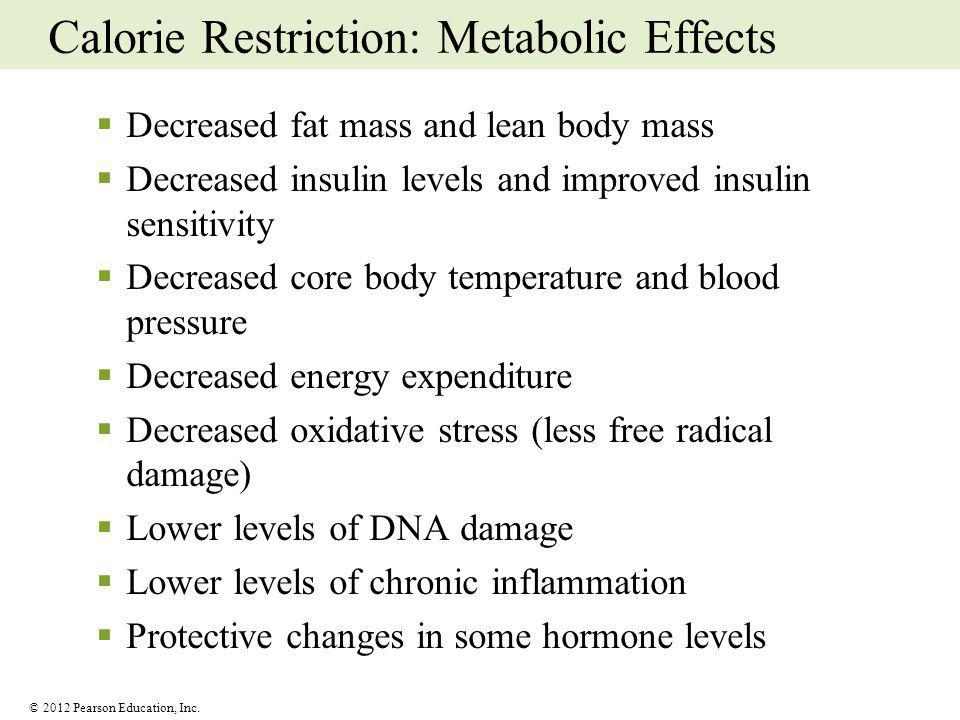 Calorie Restriction: Metabolic Effects