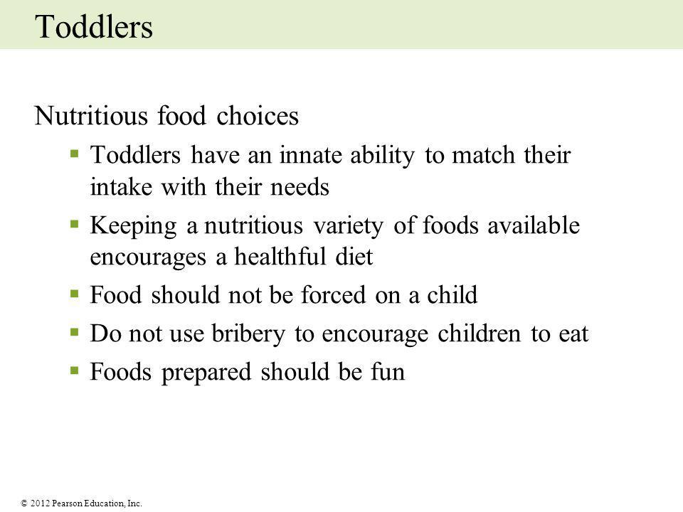Toddlers Nutritious food choices