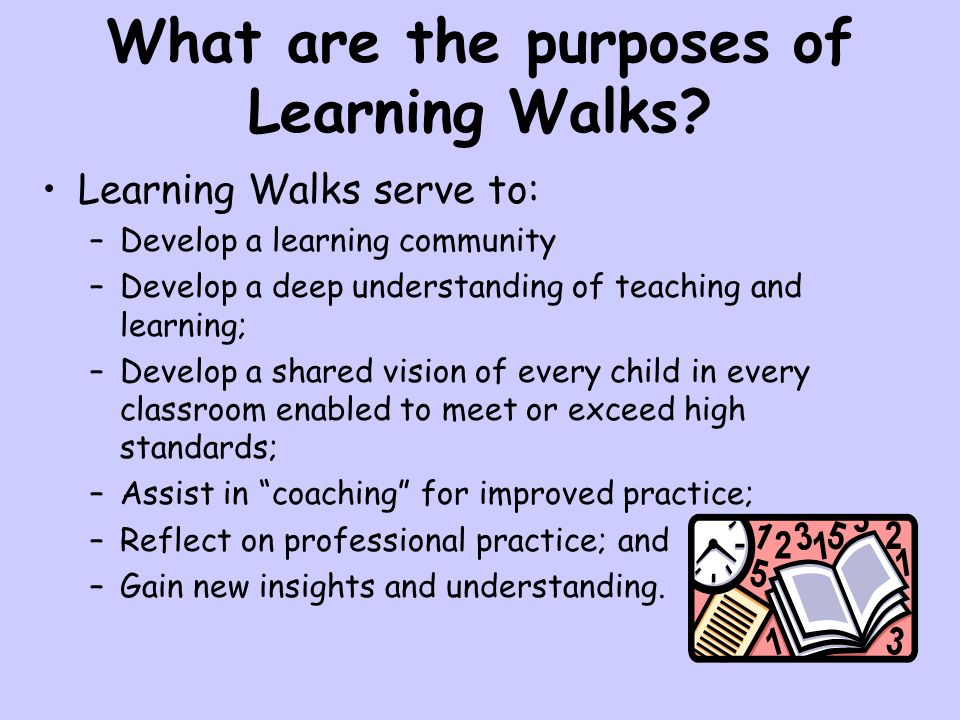 What are the purposes of Learning Walks