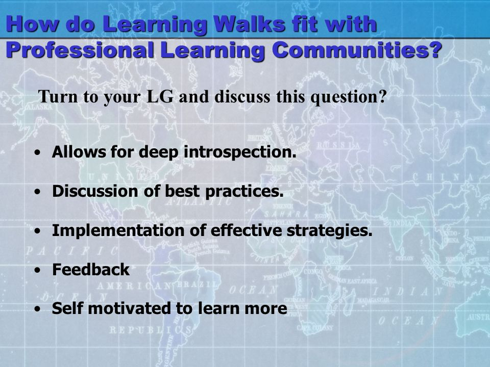 How do Learning Walks fit with Professional Learning Communities