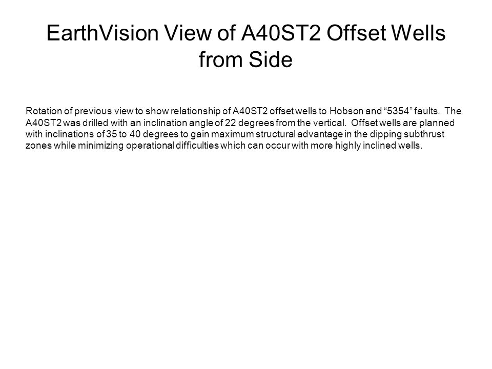EarthVision View of A40ST2 Offset Wells from Side