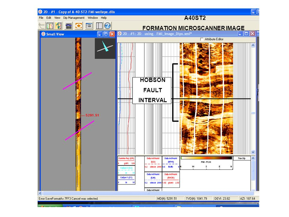 A40ST2 FORMATION MICROSCANNER IMAGE HOBSON FAULT INTERVAL