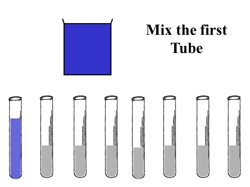 Mix the first Tube