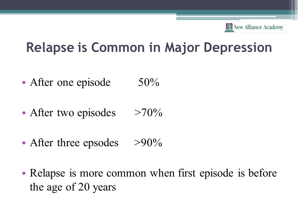 Relapse is Common in Major Depression
