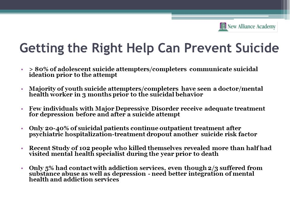 Getting the Right Help Can Prevent Suicide