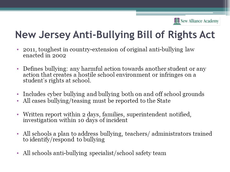 New Jersey Anti-Bullying Bill of Rights Act