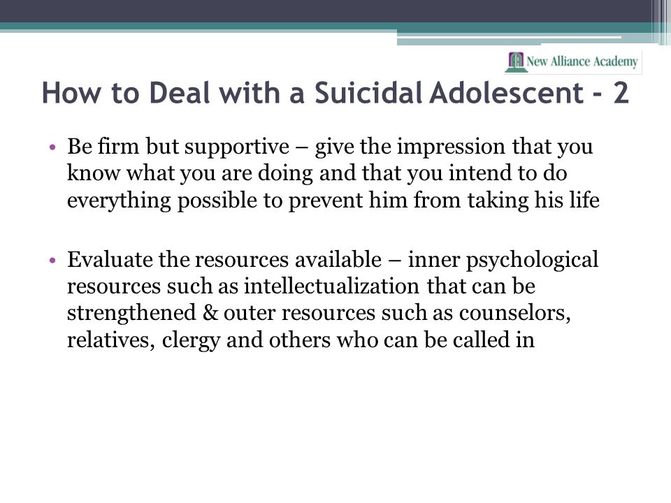 How to Deal with a Suicidal Adolescent - 2