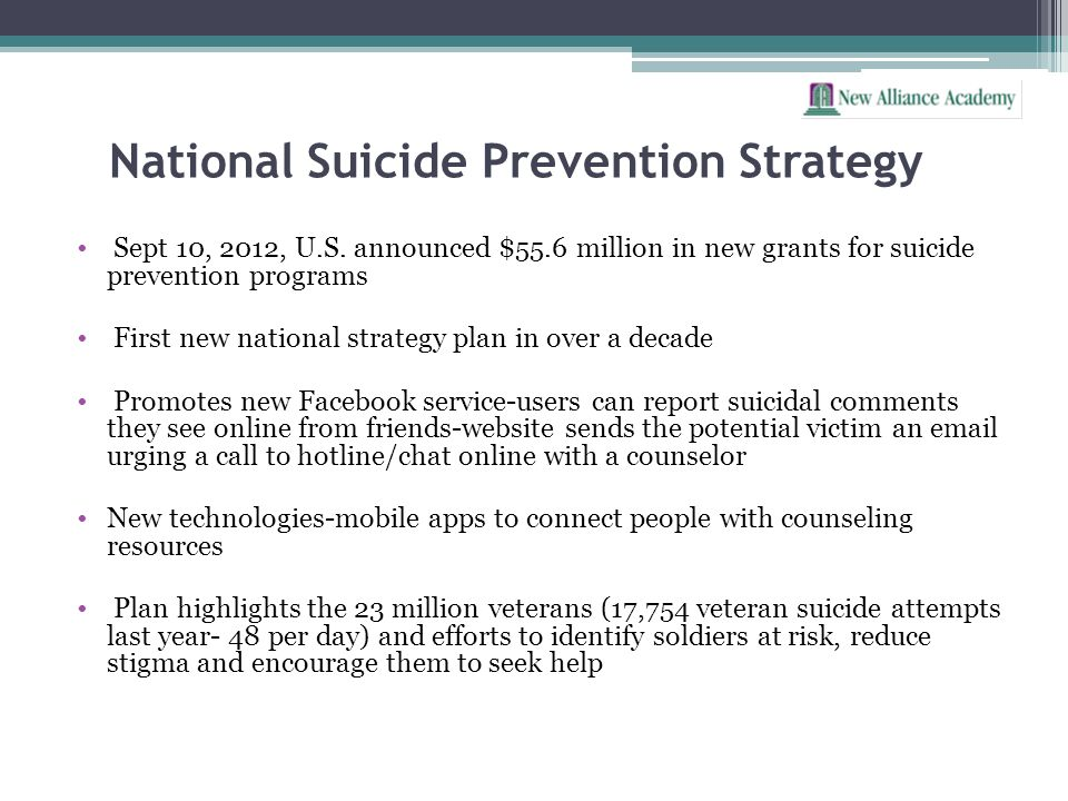 National Suicide Prevention Strategy