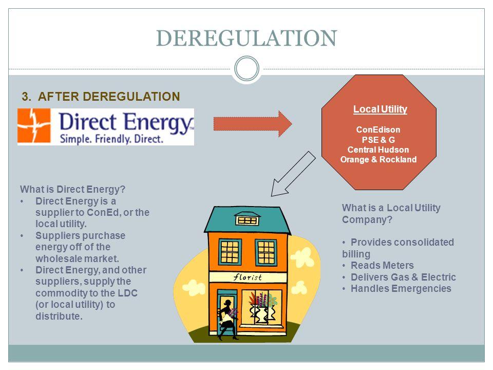 DEREGULATION 3. AFTER DEREGULATION Local Utility