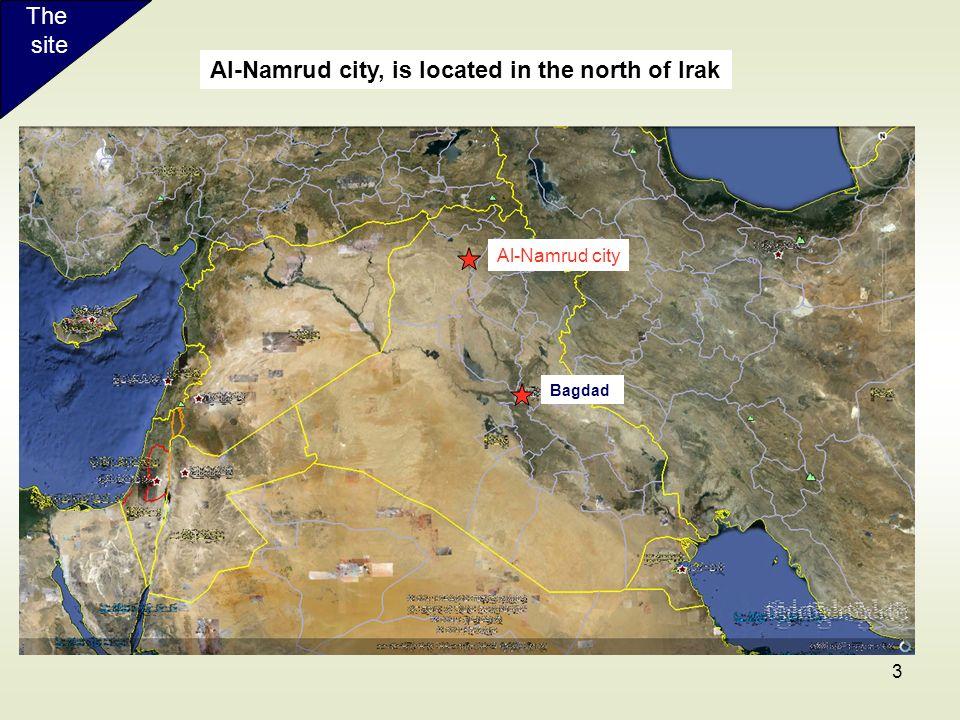 Al-Namrud city, is located in the north of Irak