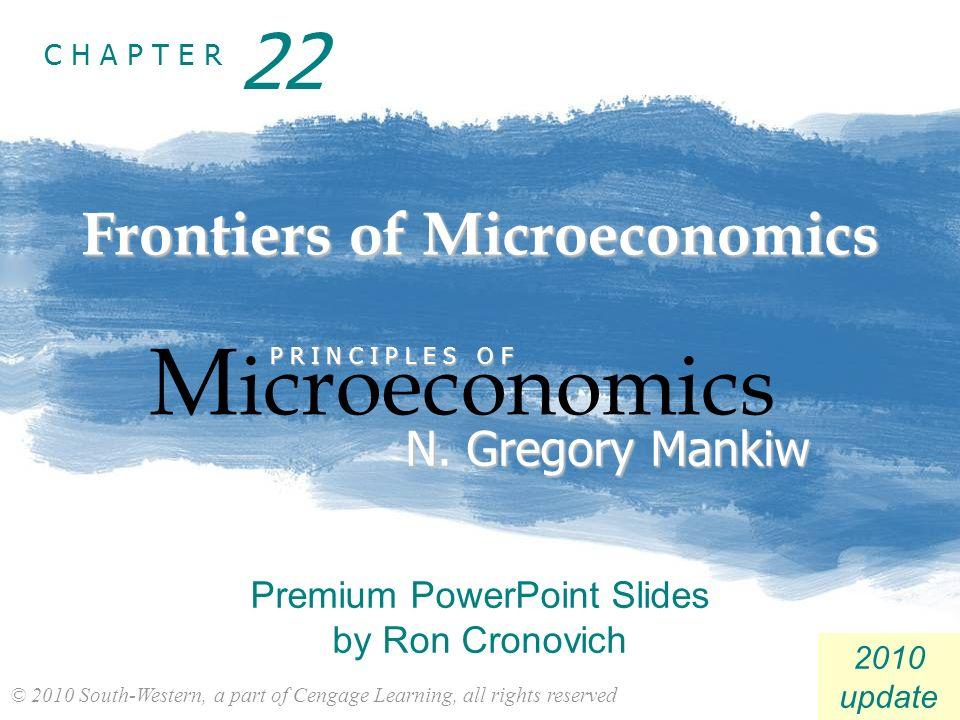 Frontiers of Microeconomics