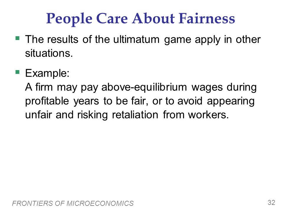 People Care About Fairness