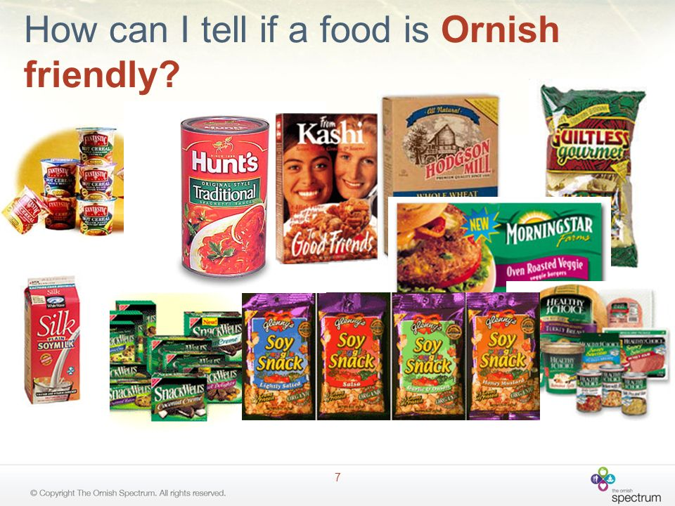 How can I tell if a food is Ornish friendly
