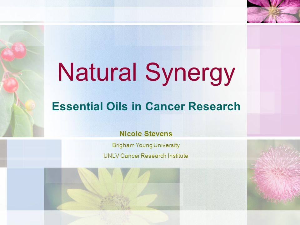 Essential Oils in Cancer Research
