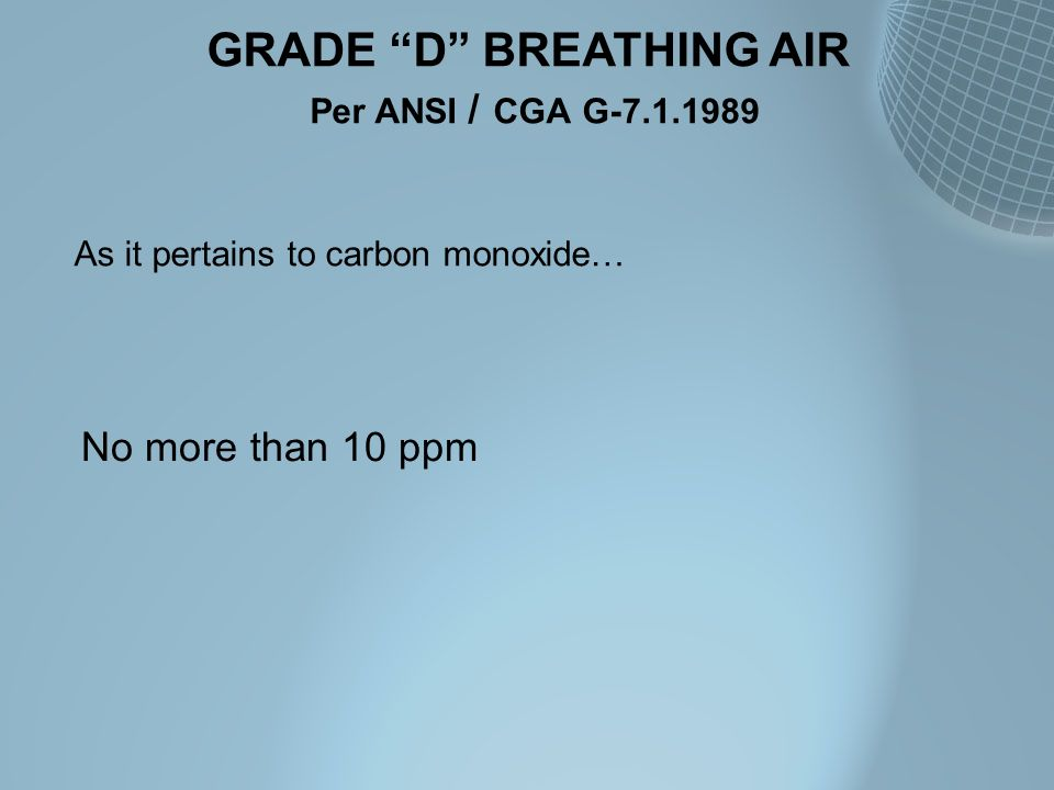 GRADE D BREATHING AIR