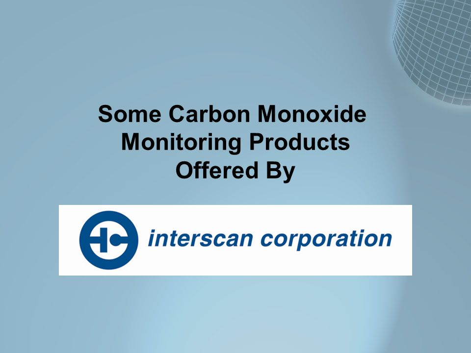 Some Carbon Monoxide Monitoring Products Offered By