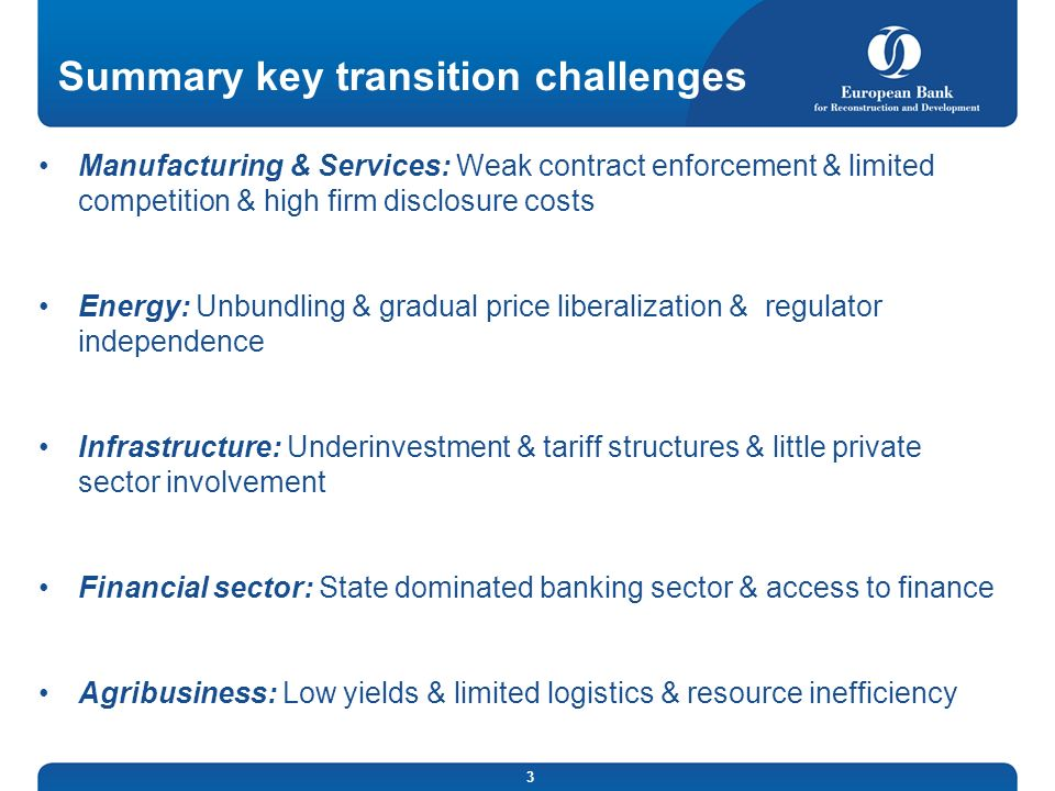 Summary key transition challenges