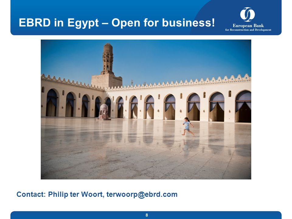 EBRD in Egypt – Open for business!