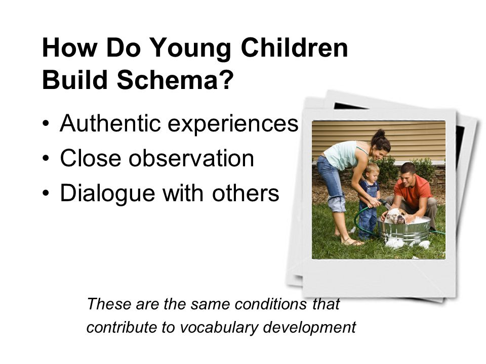How Do Young Children Build Schema