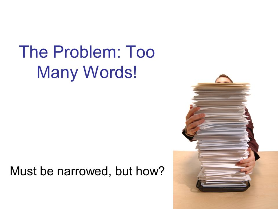 The Problem: Too Many Words!