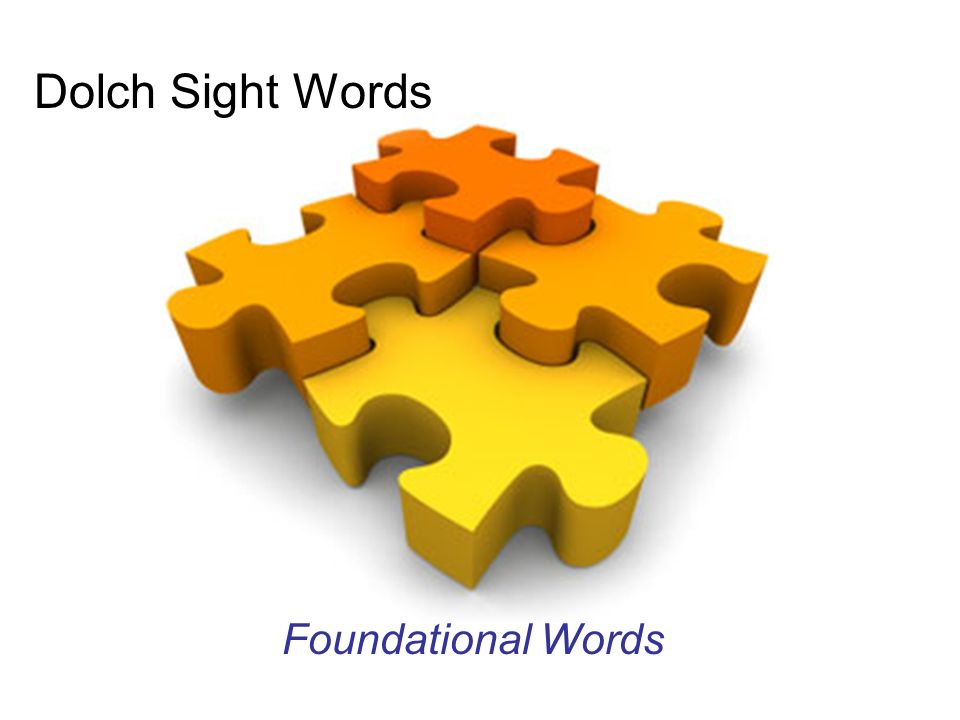 Dolch Sight Words Foundational Words