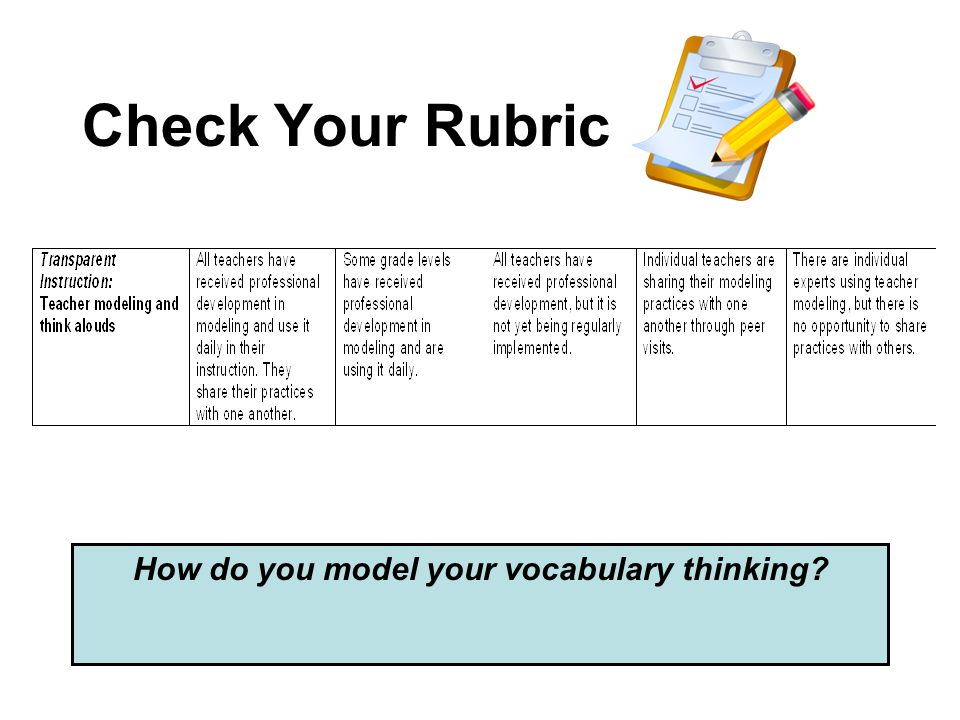 How do you model your vocabulary thinking