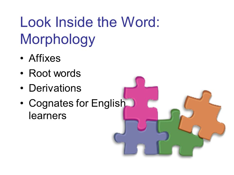 Look Inside the Word: Morphology