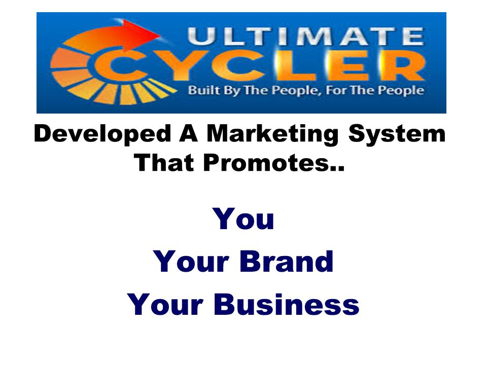 Developed A Marketing System That Promotes..