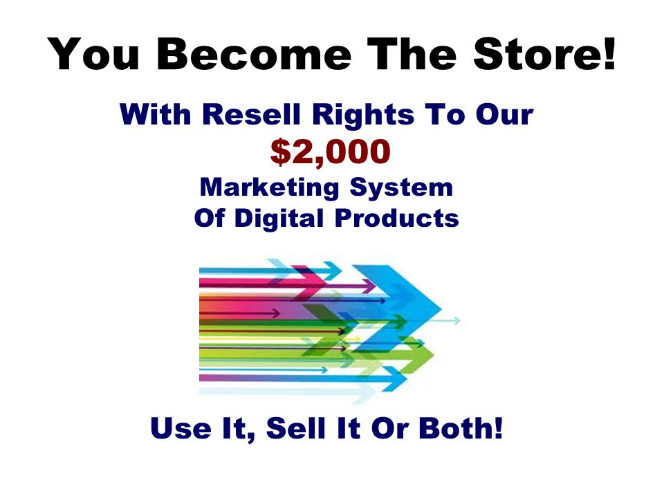 With Resell Rights To Our