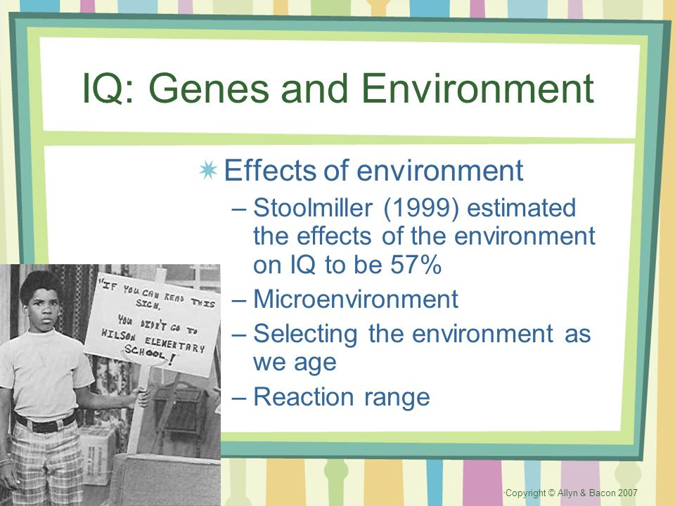 IQ: Genes and Environment