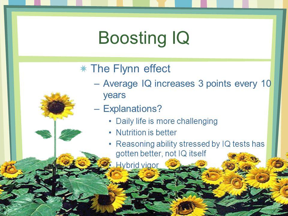 Boosting IQ The Flynn effect
