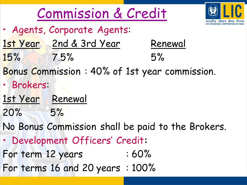 Commission & Credit Agents, Corporate Agents: