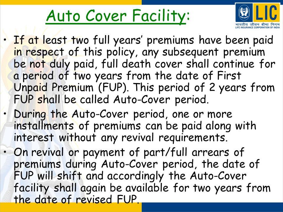 Auto Cover Facility: