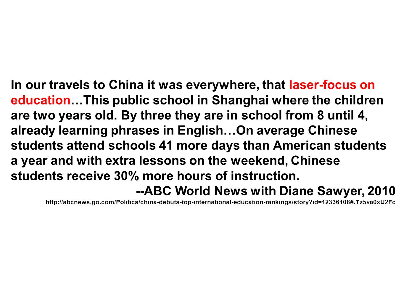 --ABC World News with Diane Sawyer, 2010