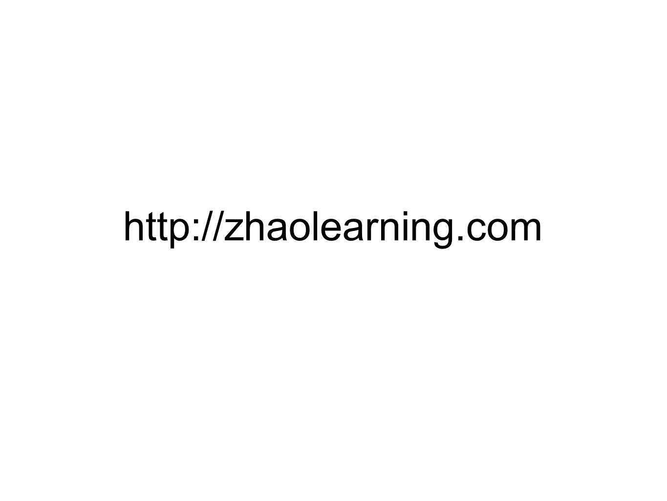 http://zhaolearning.com
