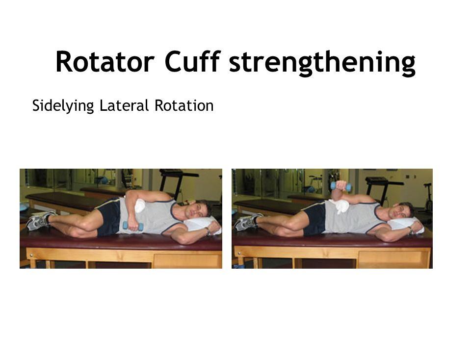 Rotator Cuff strengthening