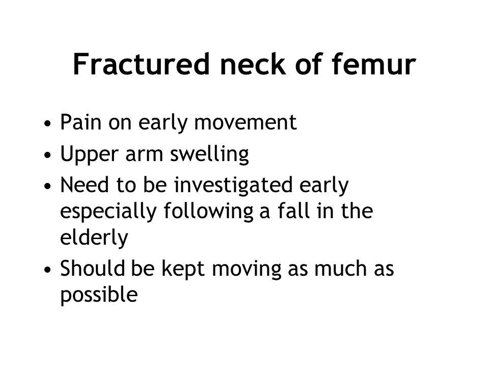 Fractured neck of femur