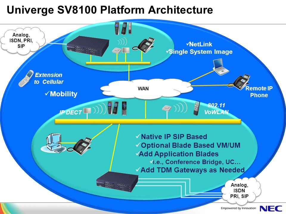 Univerge SV8100 Platform Architecture