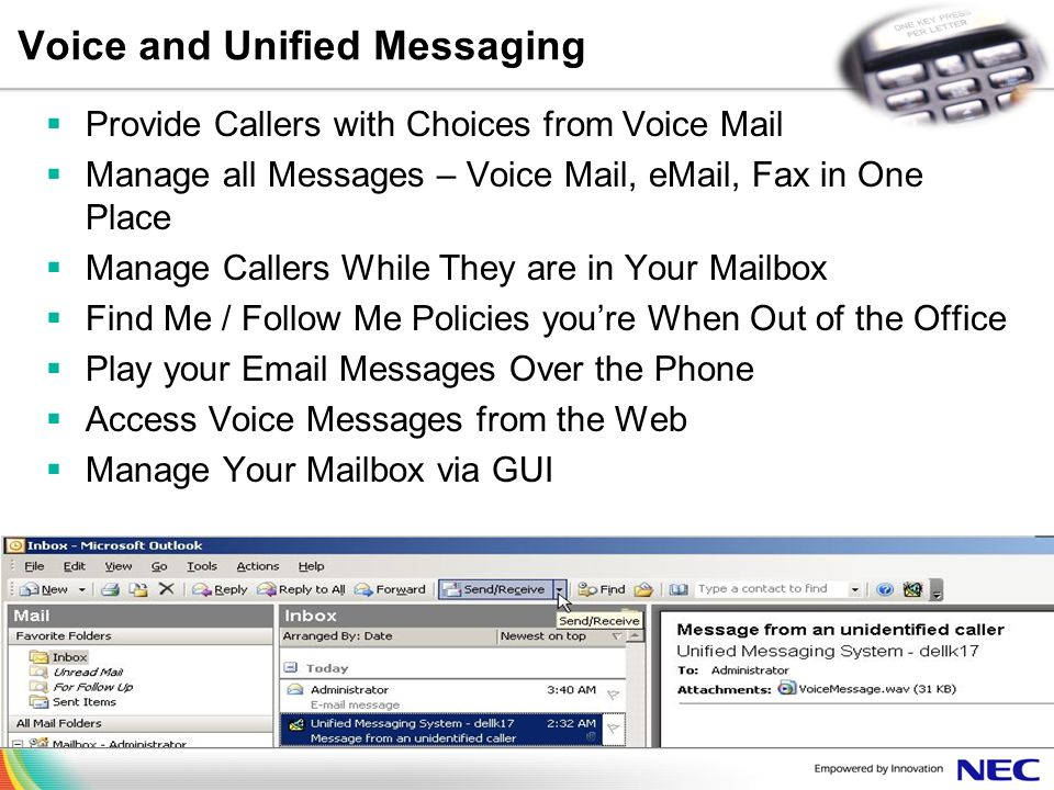 Voice and Unified Messaging