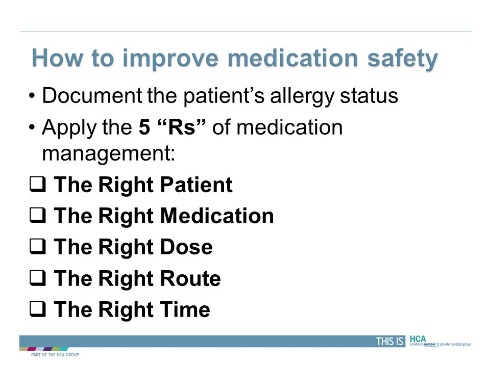 How to improve medication safety